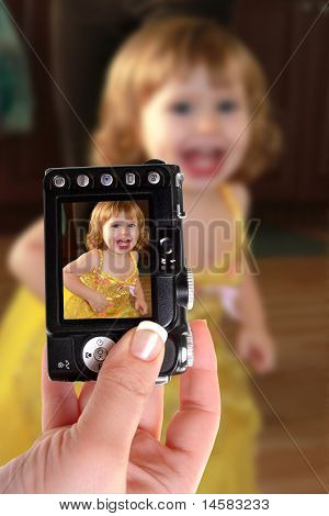 Taking Snapshot Of Little Girl