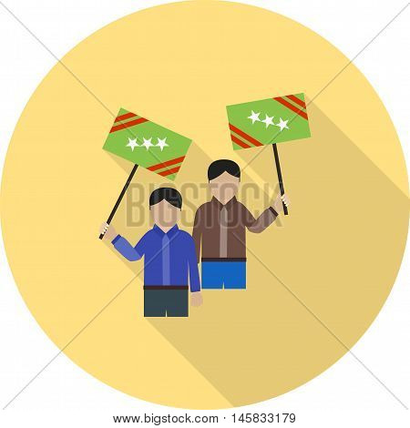 Election, rally, protest icon vector image. Can also be used for elections. Suitable for use on web apps, mobile apps and print media.