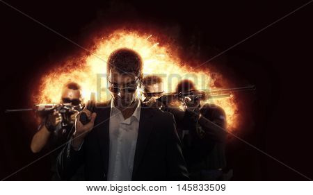 special tactics team with explosion