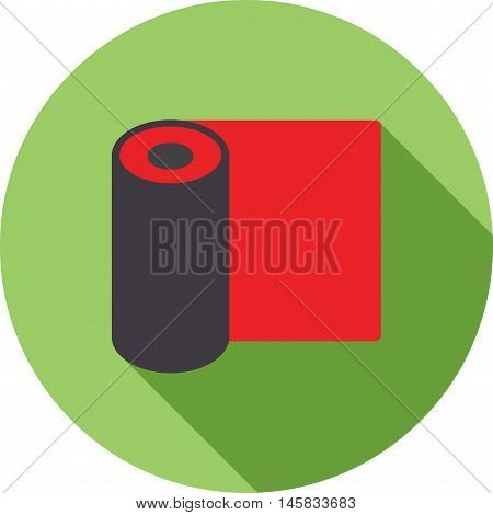 Mat, rolled, exercise icon vector image.Can also be used for spa. Suitable for mobile apps, web apps and print media.