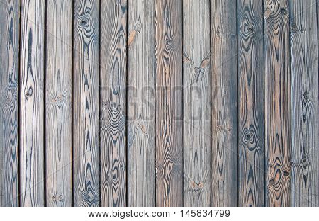 Old wooden fence. wood palisade background. shabby planks texture