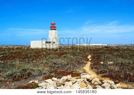 View of Cabo Sao Vicente lighthouse, Sagres, Algarve region, Portugal