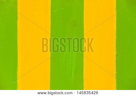 Paint stripes green yellow wet textures background sign board panel.