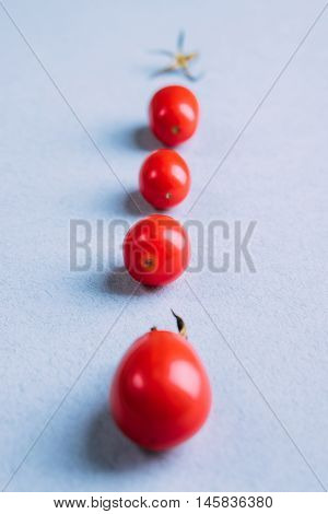 Red Cherry Tomatoes On The Table