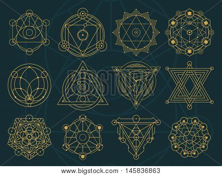 Abstract Sacred Geometry And Magic Symbols Set 1