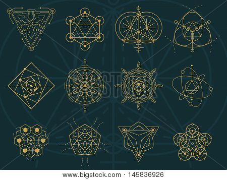 Abstract Sacred Geometry And Magic Symbols Set 5