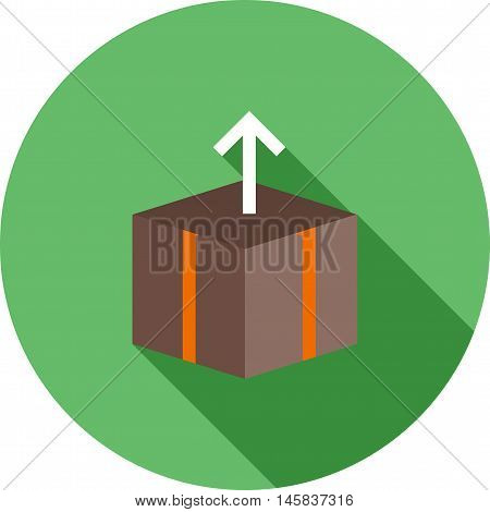 Box, open, packaging icon vector image. Can also be used for finances trade. Suitable for web apps, mobile apps and print media.