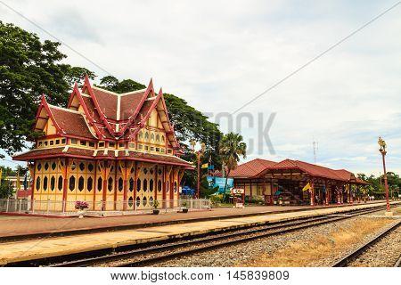 Hua hin train station. A landmark in Hua hin city Thailand.