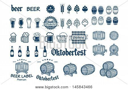 Beer Label And Logos Vector Drink Icon