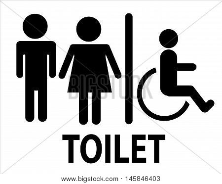 a man and a lady toilet sign toilet sign on white background