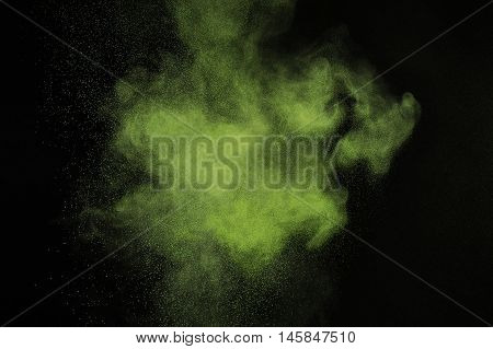 Light Green Powder Explosion.
