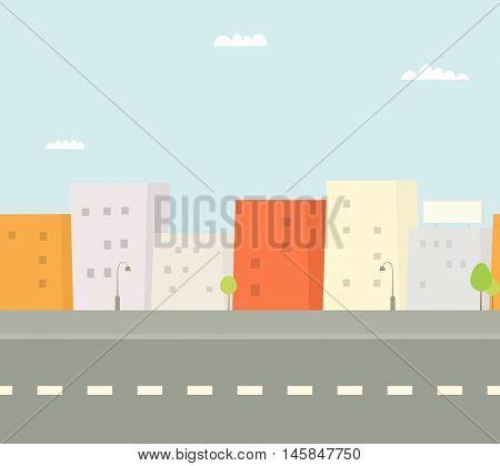 Seamless colorful city street