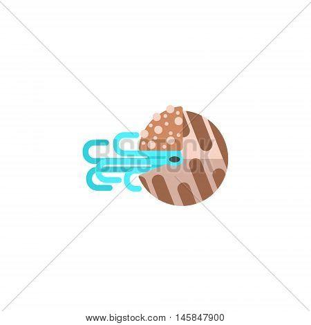 Nautilus Mollusk Primitive Style Childish Sticker. Marine Animal Minimalistic Vector Illustration Isolated On White Background.