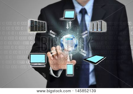 Conceptual image of a secure internet network