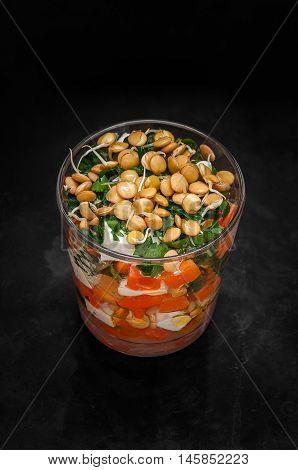Lentil Pumpkin Salad With Parsley And Feta