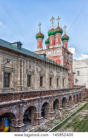 Vysokopetrovsky monastery is a Russian Orthodox monastery in the Bely Gorod of Moscow