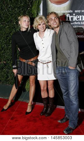 Alexandra Holden, Anna Faris and Joey Kern at the Los Angeles premiere of 'Just Friends' held at the Mann Village Theatre in Westwood, USA on November 14, 2005.