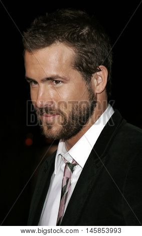 Ryan Reynolds at the Los Angeles premiere of 'Just Friends' held at the Mann Village Theatre in Westwood, USA on November 14, 2005.