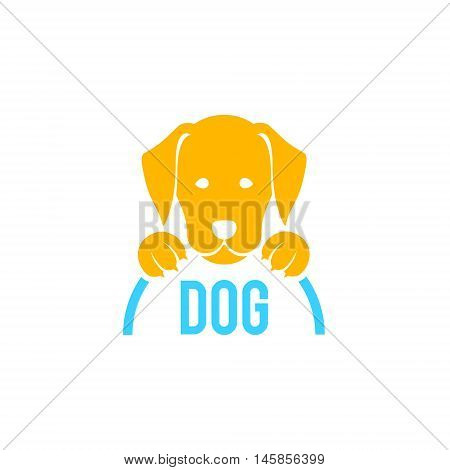 Dog sign and logo. Vector for veterinary clinic. Pet label, veterinarian icon grooming.