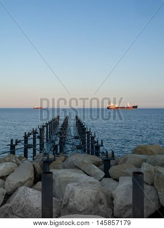 View from the seafront in Limassol, Cyprus