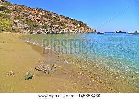 Apokofto beach at Sifnos island Cyclades Greece
