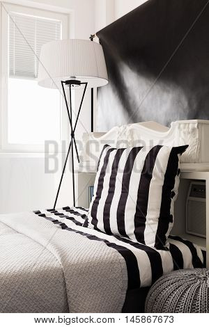 Sleeping Area In Black And White