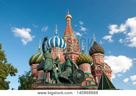 The Cathedral Of Vasily The Blessed Is A Church In Red Square In Moscow