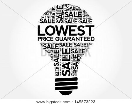 Lowest Price Guaranteed Bulb Word Cloud