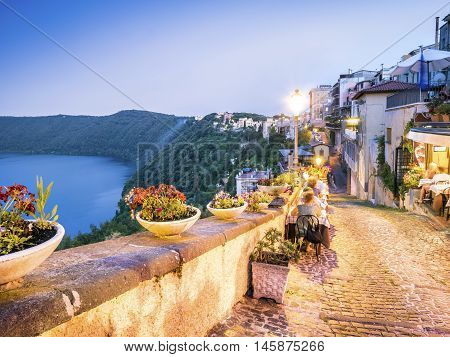 City Life In Castel Gandolfo, Pope's Summer Residency, Italy