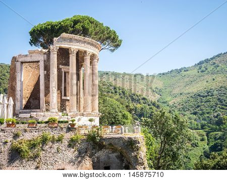 Beautiful Park Of Villa Gregoriana, Tivoli, Lazio, Italy