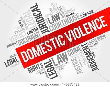 Domestic Violence word cloud concept, presentation background