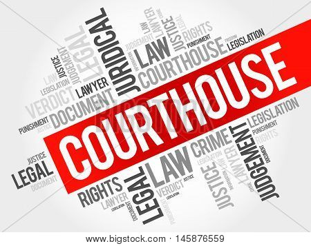 Courthouse word cloud concept , presentation background