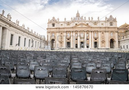 Saint Peter's Basilica And Square In Vatican City
