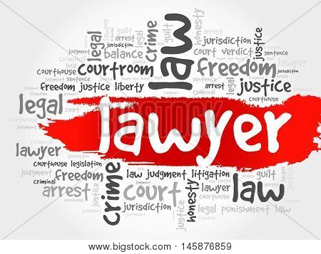 Lawyer word cloud concept , presentation background