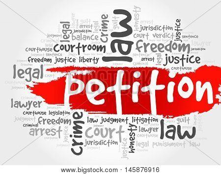 Petition word cloud concept , presentation background