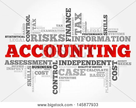 ACCOUNTING word cloud business concept, presentation background