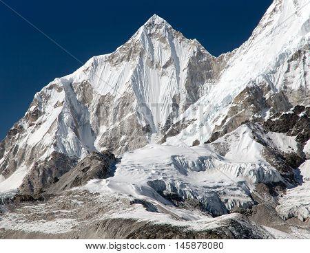 Beautiful mount near Cho Oyu view from Cho Oyu base camp Gokyo valley Khumbu valley Sagarmatha national park Everest area Nepal