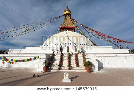 View of Boudhanath stupa - Kathmandu - Nepal