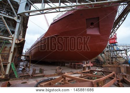 repair ship in the dock dry dock ship repair