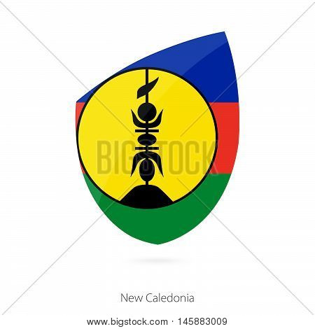 Flag of New Caledonia in the style of Rugby icon. Vector Illustration.