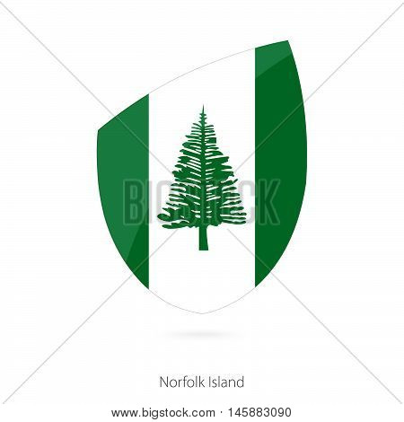 Flag of Norfolk Island in the style of Rugby icon. Vector Illustration.