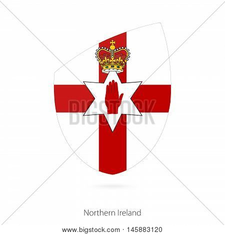 Flag of Northern Ireland in the style of Rugby icon. Vector Illustration.