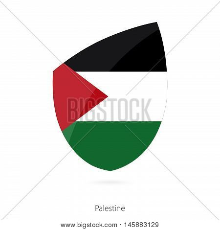 Flag of Palestine in the style of Rugby icon. Vector Illustration.