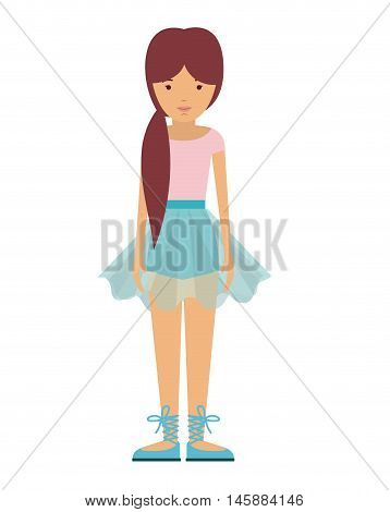 dancer woman and cartoon icon. profession worker and occupation theme. Isolated design. Vector illustration