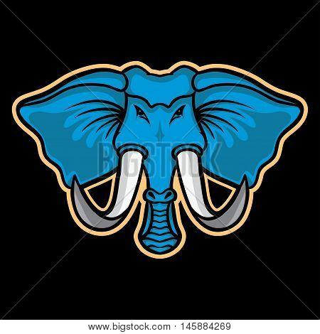Elephant Mascot, Elephant Mascot Concept, Elephant Icon, Elephant Logo