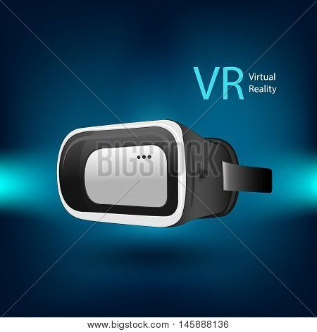 Vr Virtual Reality Simulator Device By Illustration