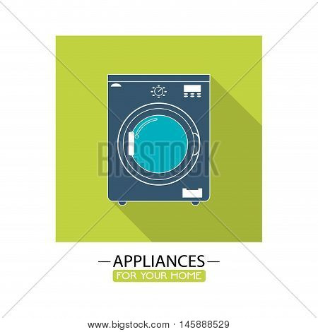 washer icon. electronic appliances and supplies for your home theme.Colorful design. Vector illustration