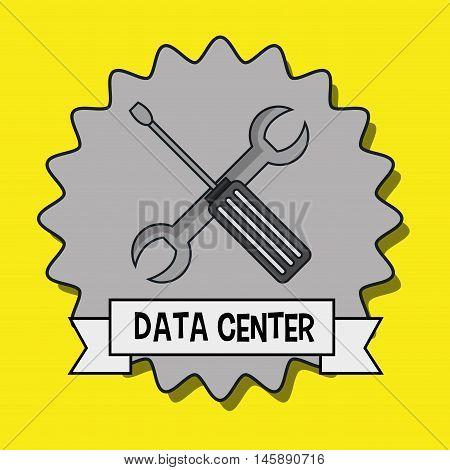 data center wrench spanner vector illustration eps10
