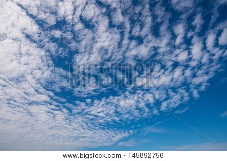 The beautiful sky and clouds when the wind blow.