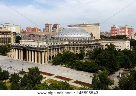 Famous opera and ballet theater in Novosibirsk.